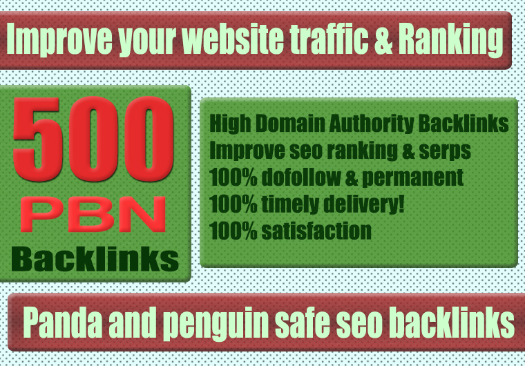 Premium 500+ WEB 2.0 PBN Backlink with Permanent Dofollow & High DA PA TF CF
