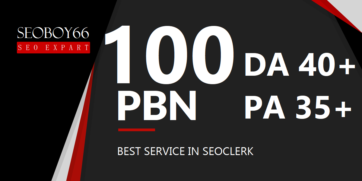 Excellent 100 web2.0 PBN In unique 100 domains