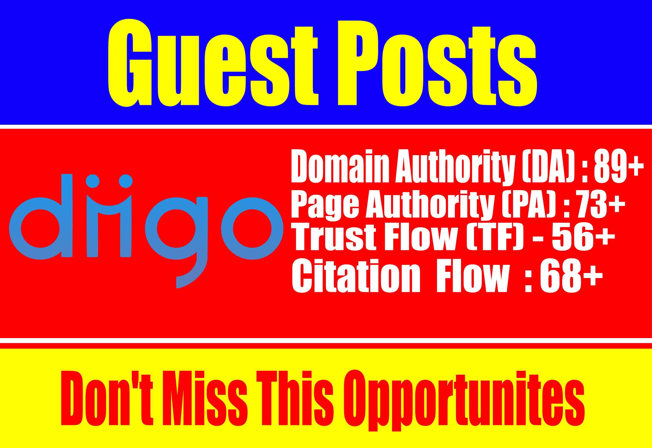 Write and Publish a guest post on Diigo-Diigo. com-DA 90