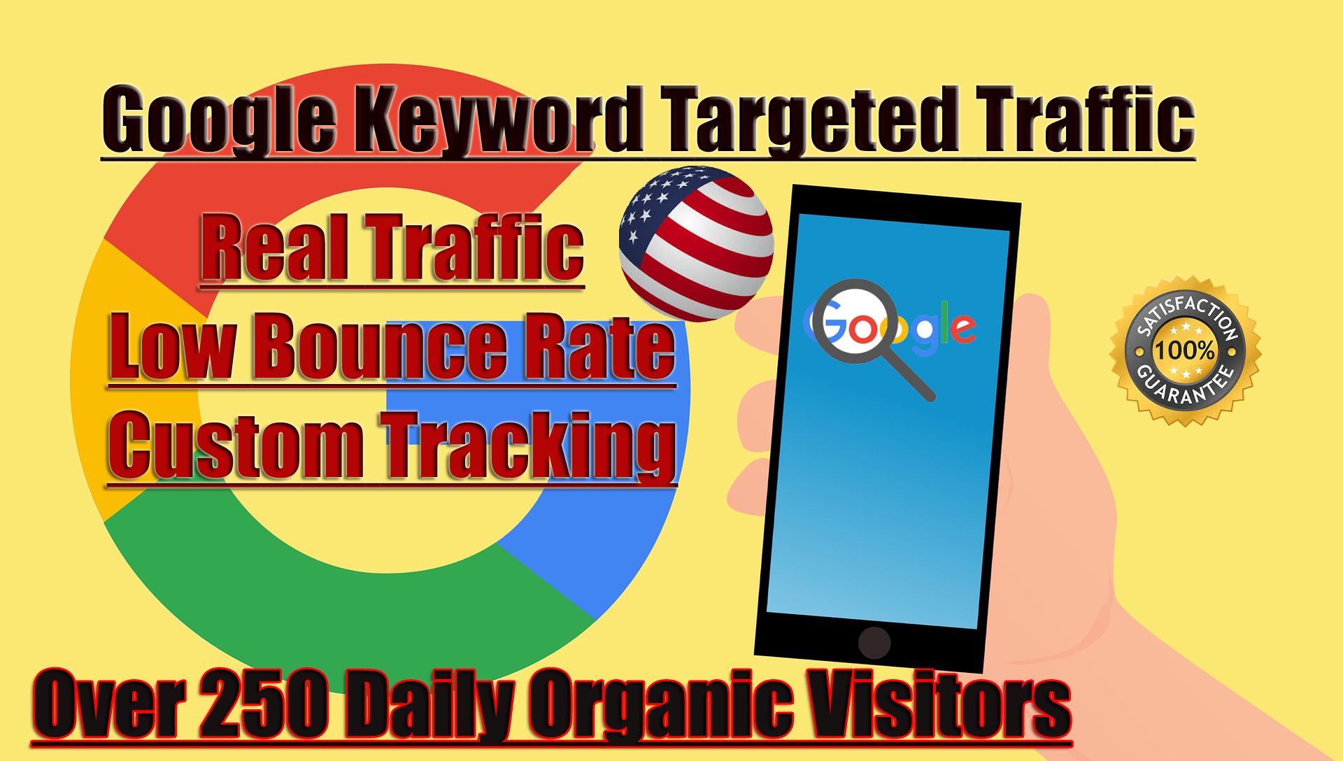 I will drive low bounce rate traffic from network of 20k Domains