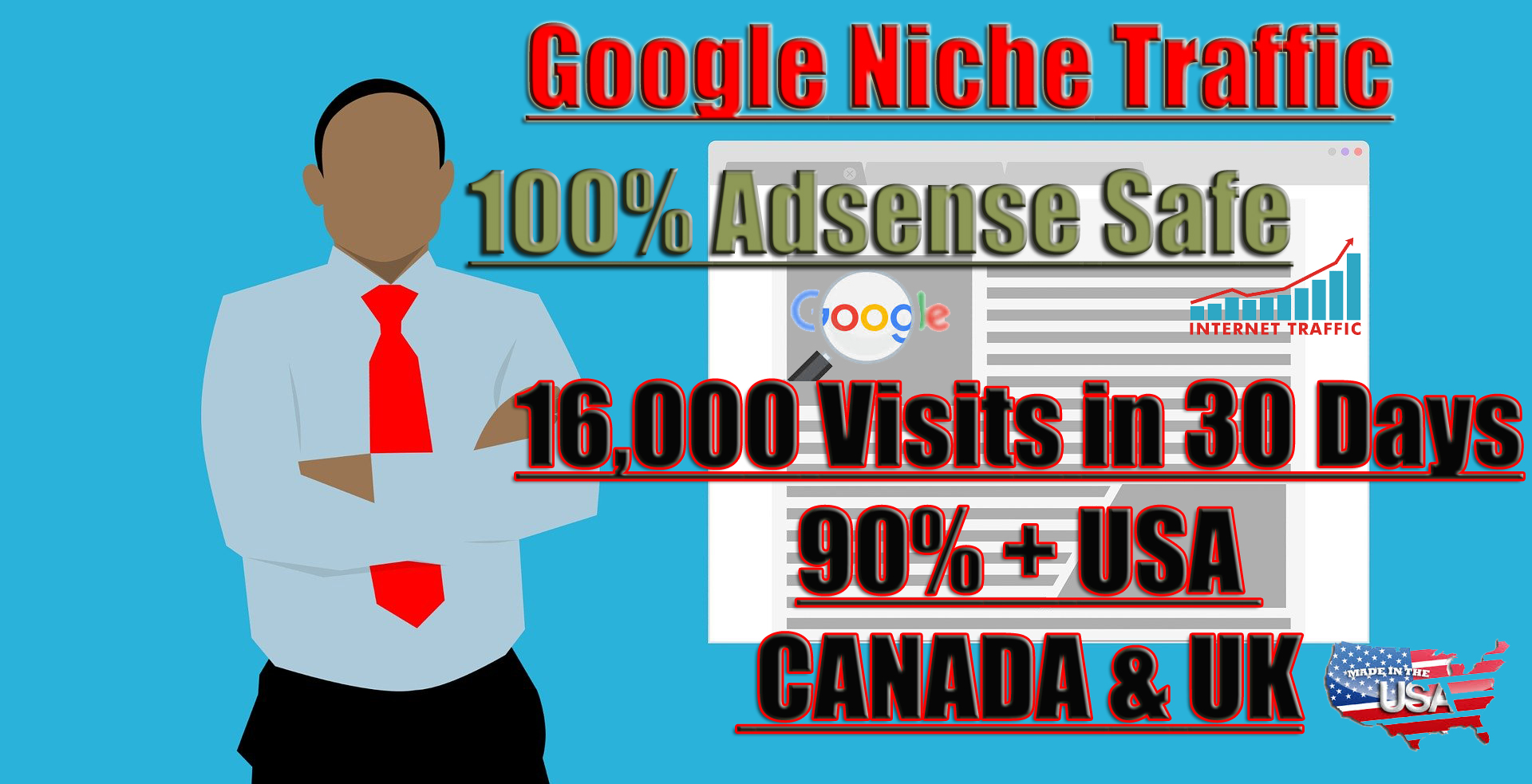 I will drive real targeted traffic,  quality visitors