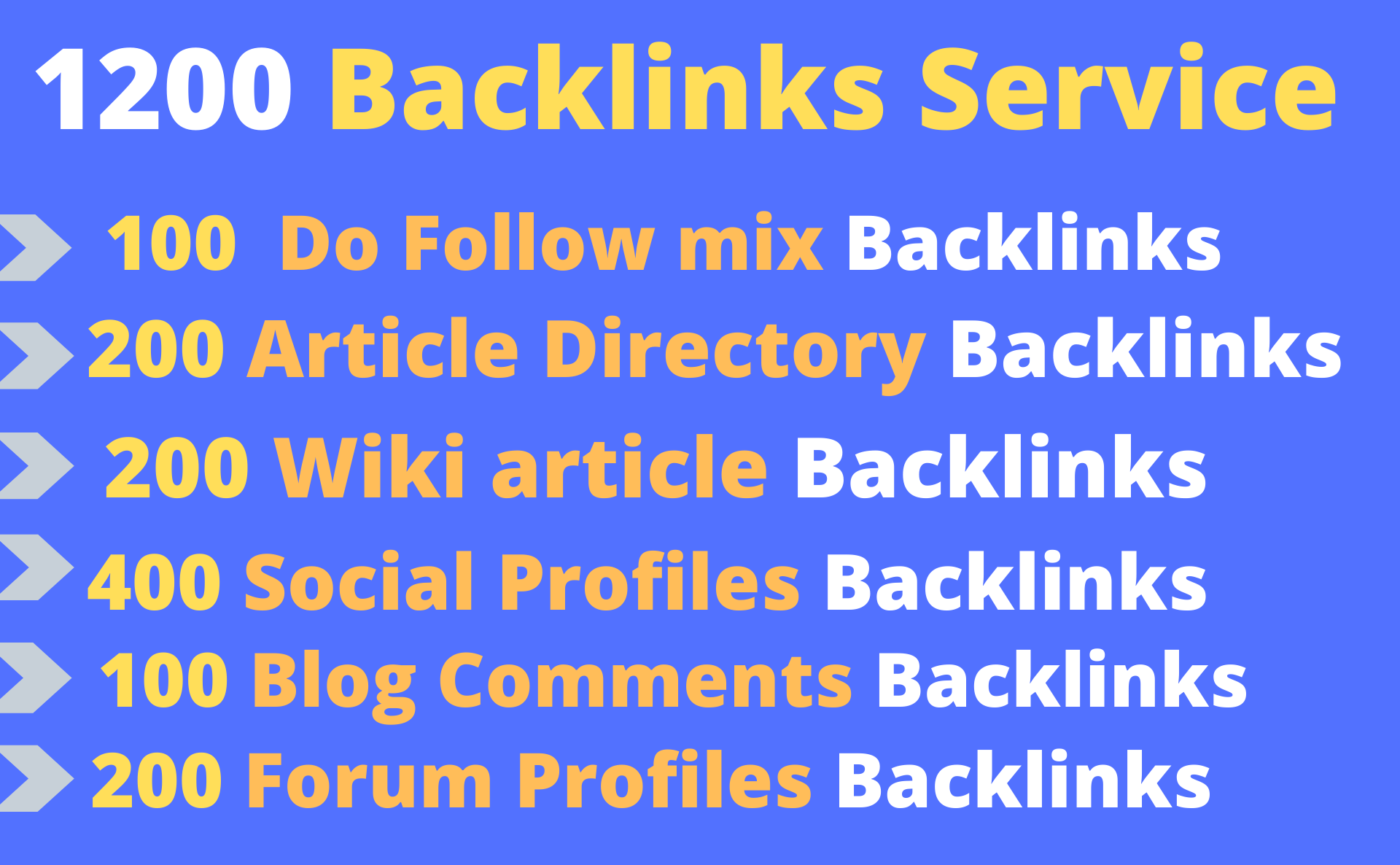 1000 Forum profile and 1200 do follow backlinks to your website