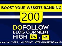 I Will Create 200 manual do follow blog comment high DA PA backlinks