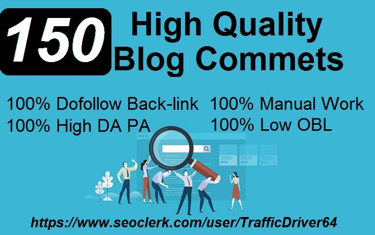 I Will DO 150 Unique Domain DO Follow Blog Comments