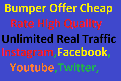 Real 200,000 Worldwide Website Real Unlimited Traffic Instagram, Facebook, YouTube, Twitter