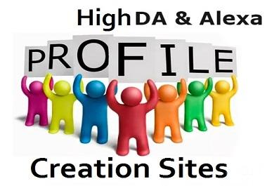 I will create 100 social profile creation high DA PA site