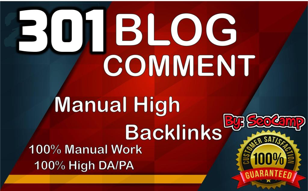 I will create 301 Blog Comments on Unique Domain With High DA PA