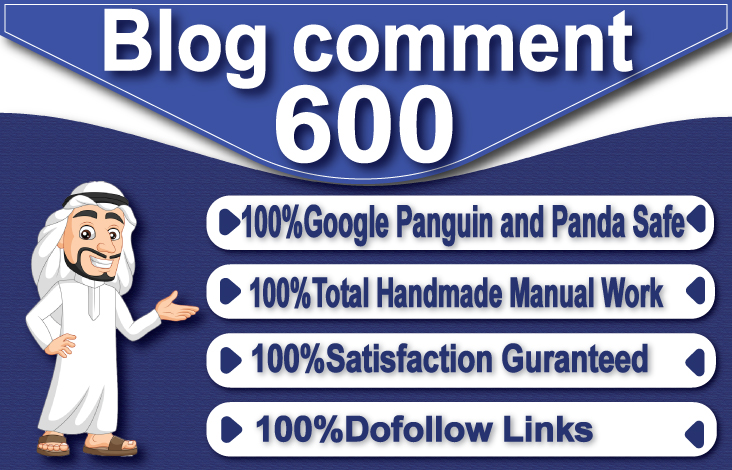I will create 600 dofollow blog comments backlinks on unique domain