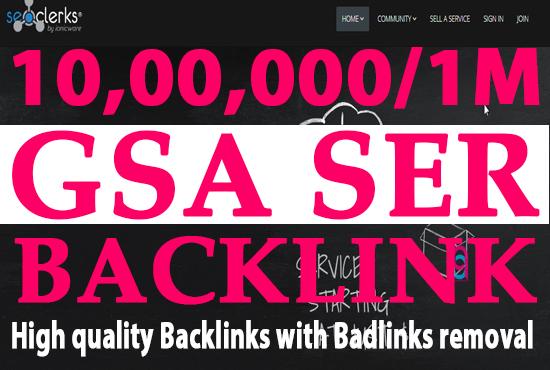 I will do 1M gsa, dofollow, manual backlinks for seo