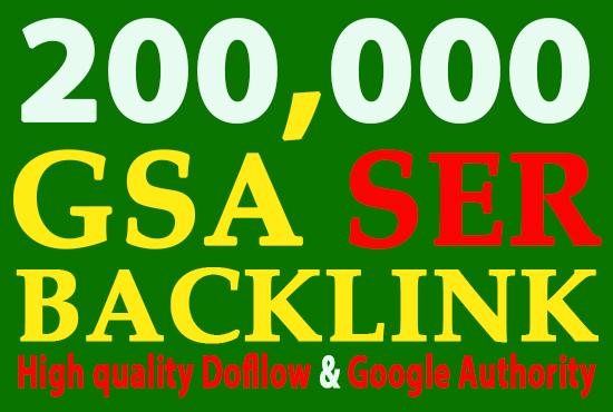 I will GSA 200,000 or 200k Backlinks, High Quality SEO links