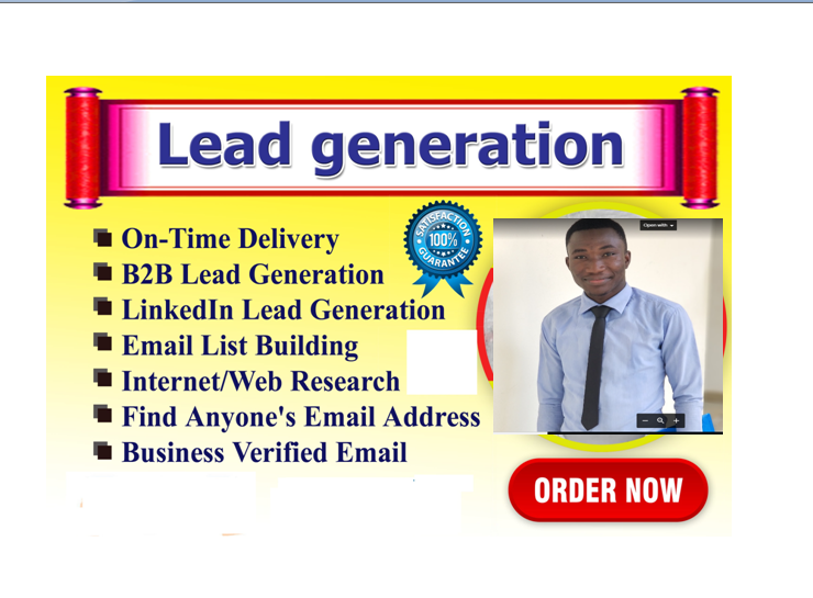 I will do lead generation for your targeted niche