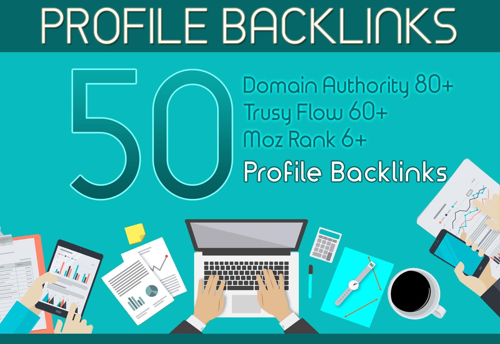 I will create 50 profile backlinks on high authority websites
