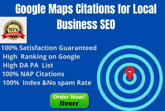500 Google maps citations for local business SEO