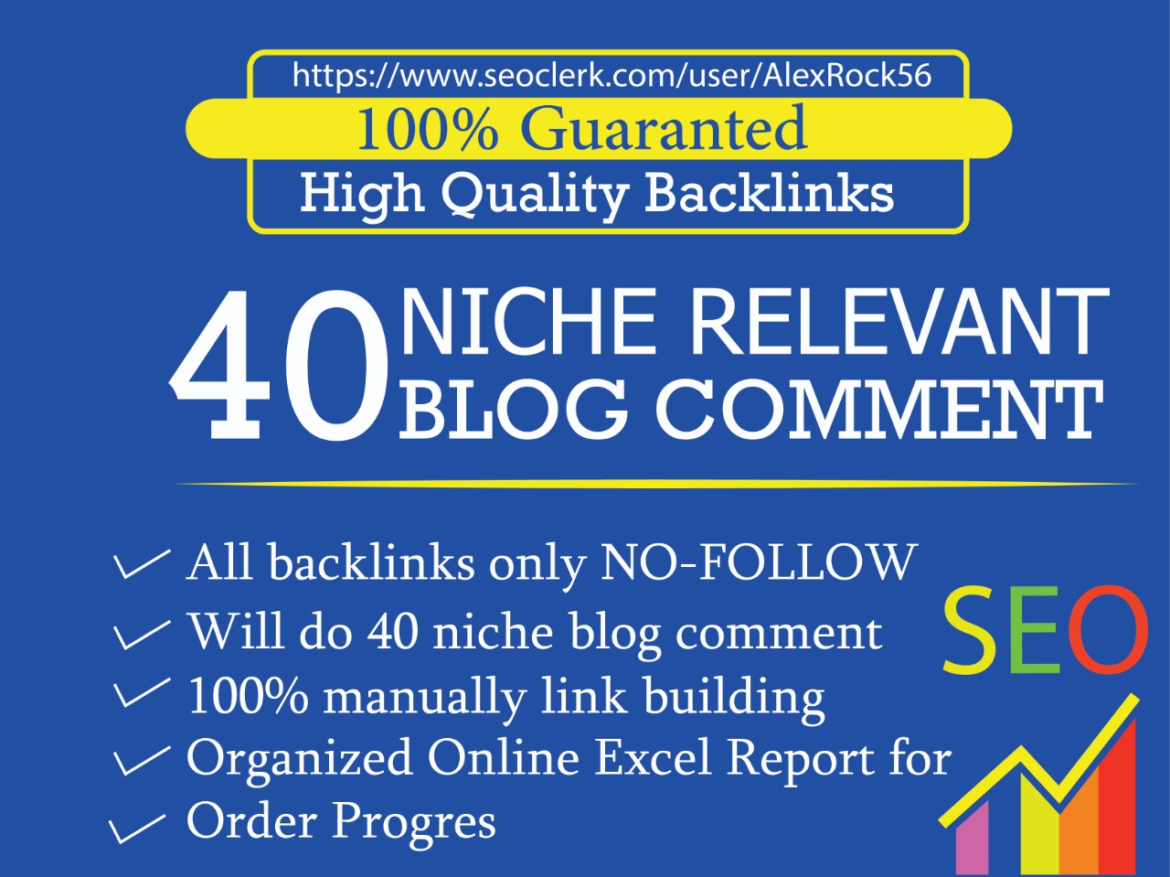 i will provide 40 niche relevant manual blog comments