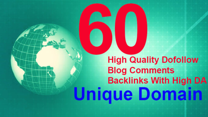 I will manual 60 blog comments backlinks unique domains high da pa