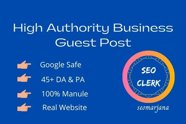 I will publish business guest post on 45+ da real business blog
