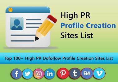 I will create 50 social profiles setup or profile creations backlinks