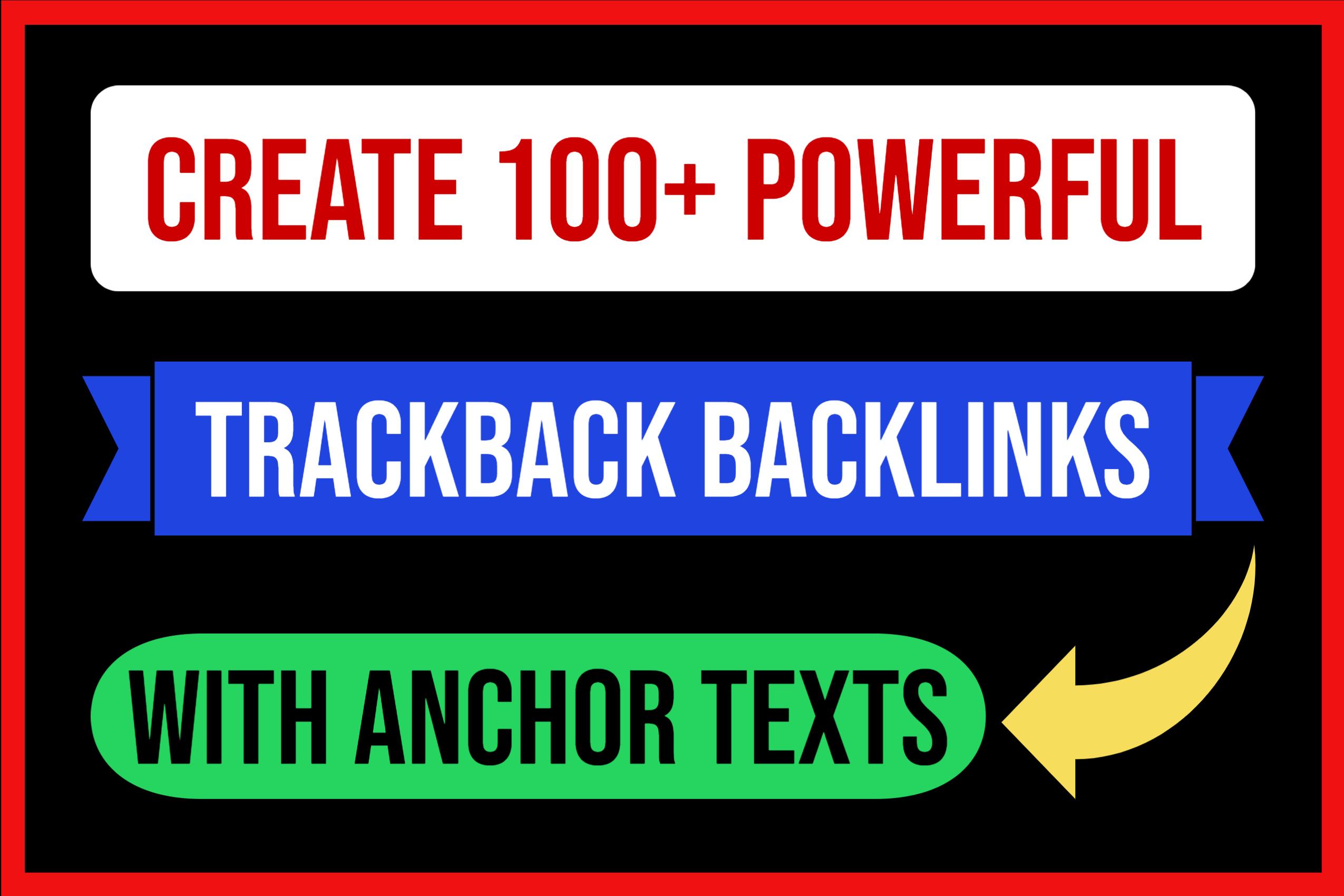 Create 100 Powerful Trackbacks With Anchor Texts