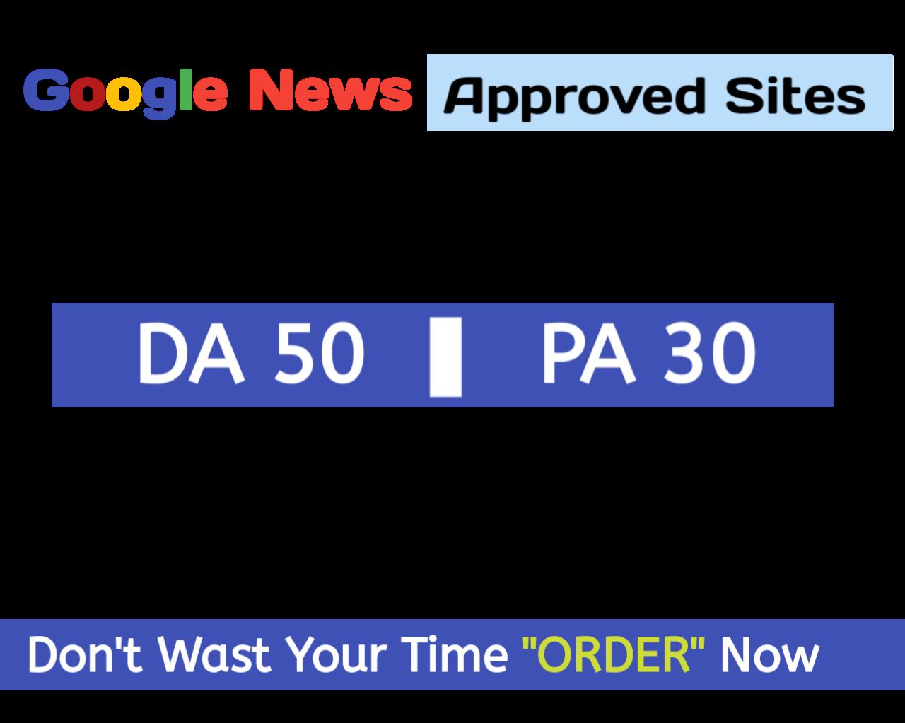 Do guest Post on google news approved website DA50+ high traffic Dofollow backlink