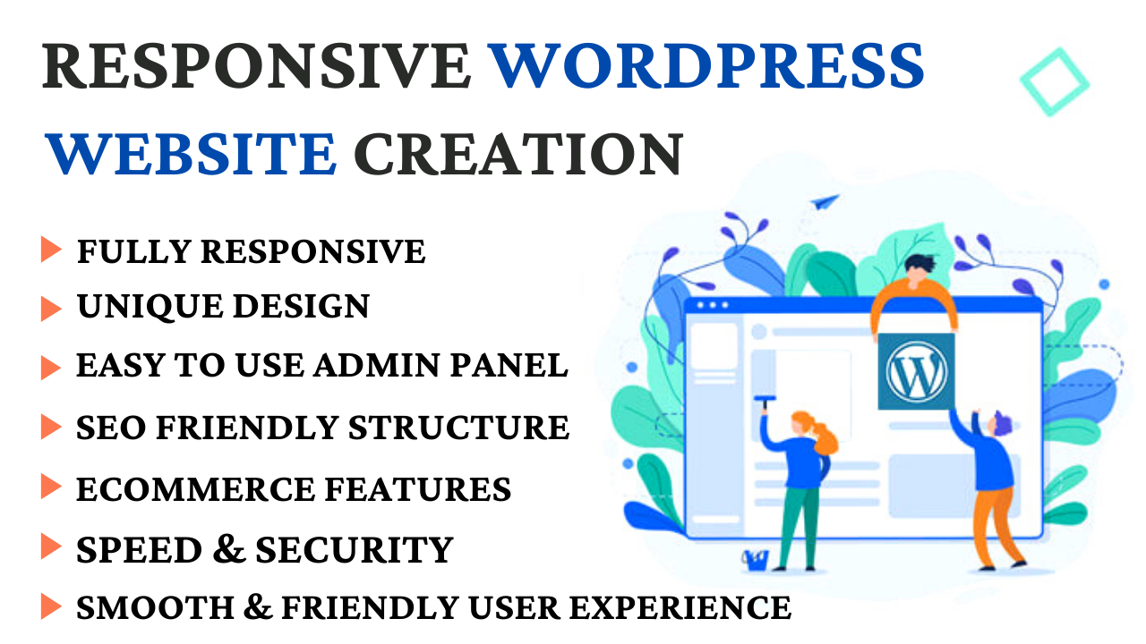 Professional And Responsive Wordpress Website Desgin, Redesgin,  Customize,  Fix Issues or Edit
