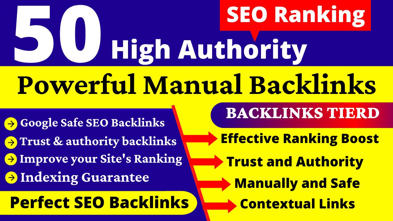 50+ High Authority DA 90+ Dofollow Backlinks. EDU,  Web2,  PBN,  Profile & Link Building Service