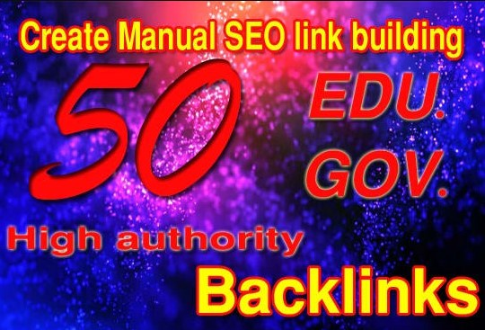 I will create 50 edu& gov high authority SEO link building backlink