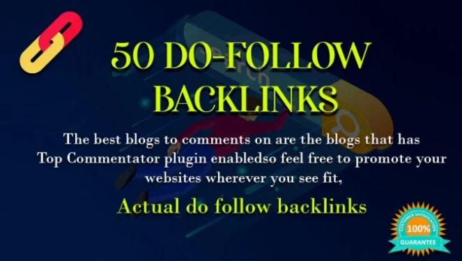 I will build 50 permanent dofollow SEO backlinks link building service