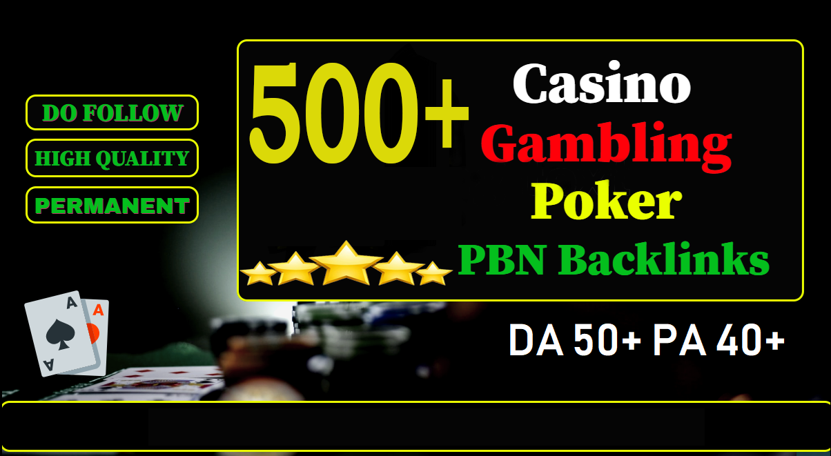Get 500 DA 70-50 pbn backlinks UFABET,  Casino,  Gambling,  Poker,  Judi Related Sites