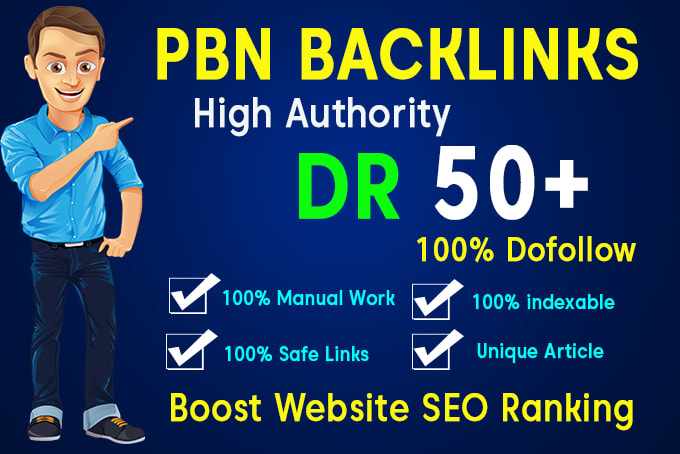 I will skyrocket your website with 60 PBN DR 50+ seo dofollow backlinks