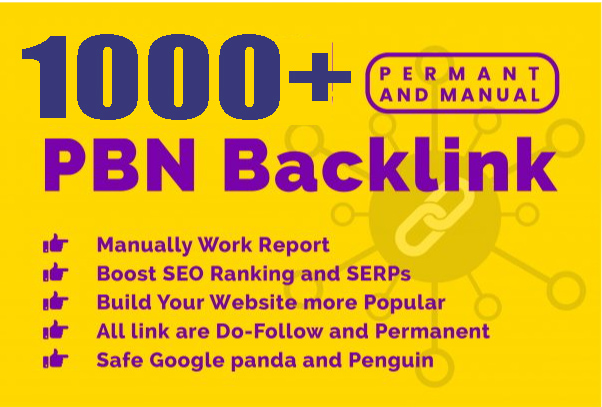 Build premium 1000+ PBN Backlink homepage web 2.0 with permanent dofollow Trustfollow for 80