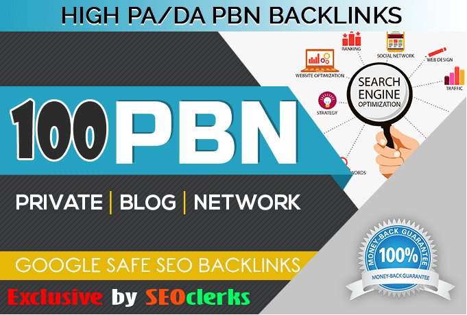 Build premium 100+ PBN Backlink homepage web 2.0 with permanent dofollow Trustfollow for $10