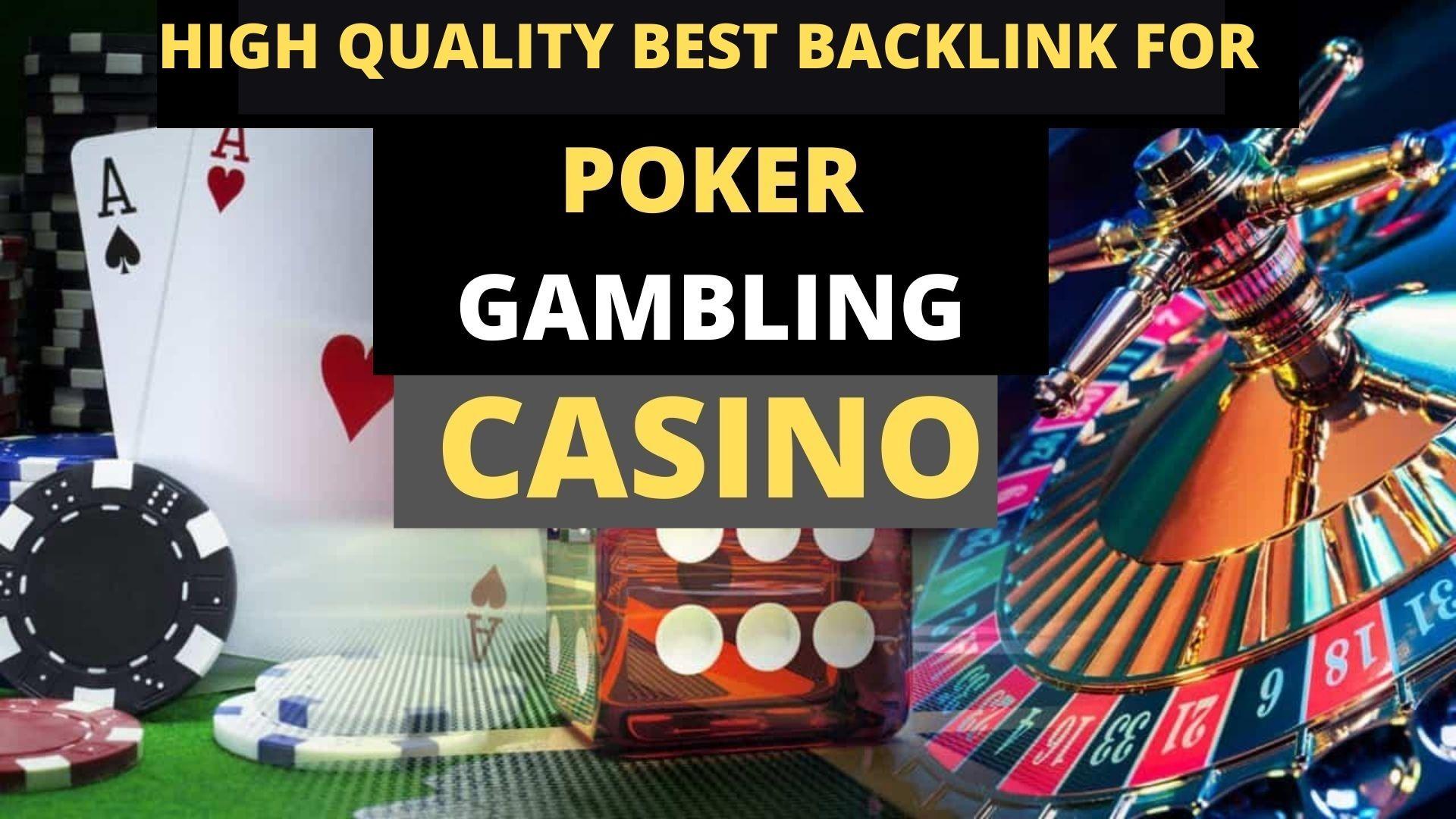 600 CASINO/POKER Gambling,  Judi Bola,  Google 1st Page Ranking & Relate PBN Backlink with BLOG POST