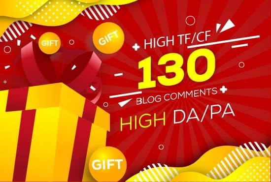 i will create 130 blogcomments high DA/PA
