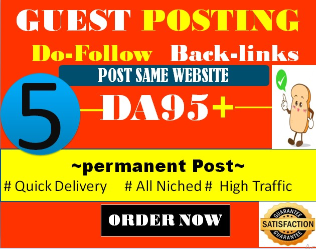 Publish Guest Post on High Authority Site DA 95 within 24 Hours