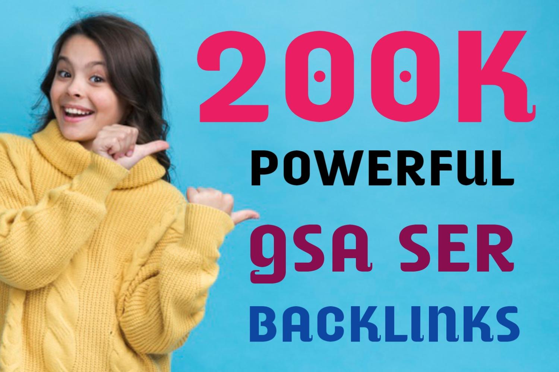 Powerful 200k GSA SER Dofollow Backlinks For Google Fastest Ranking