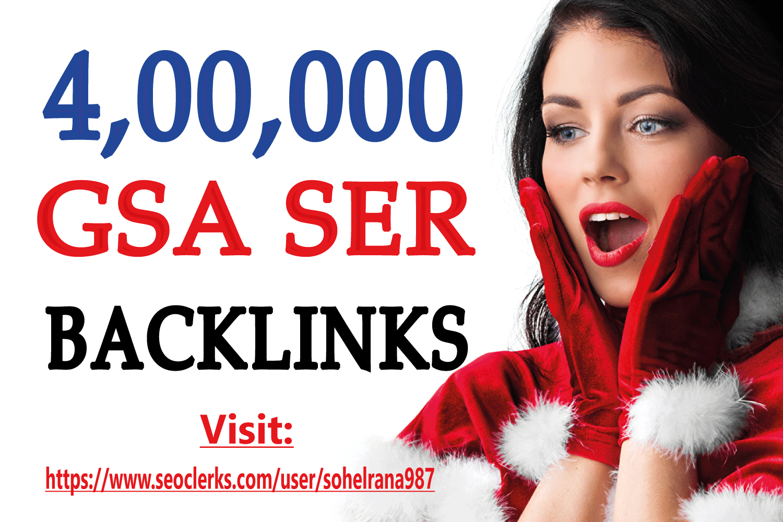 Powerful 400K GSA SER Dofollow Backlinks For Google Fastest Ranking