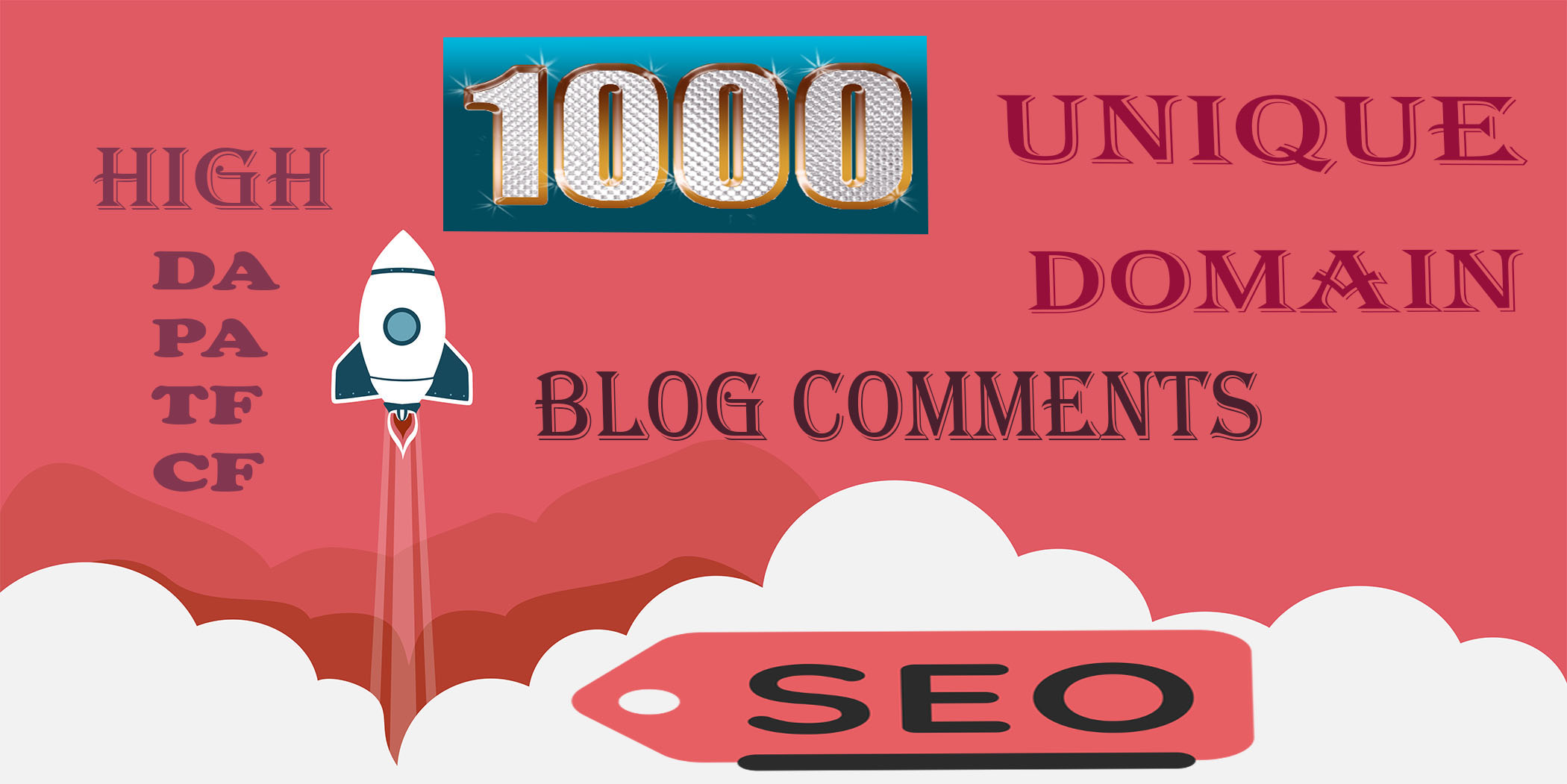 I will skyrocket your website with 1000 Unique Domain Blog Comments on High DA/PA/TF/CF Sites