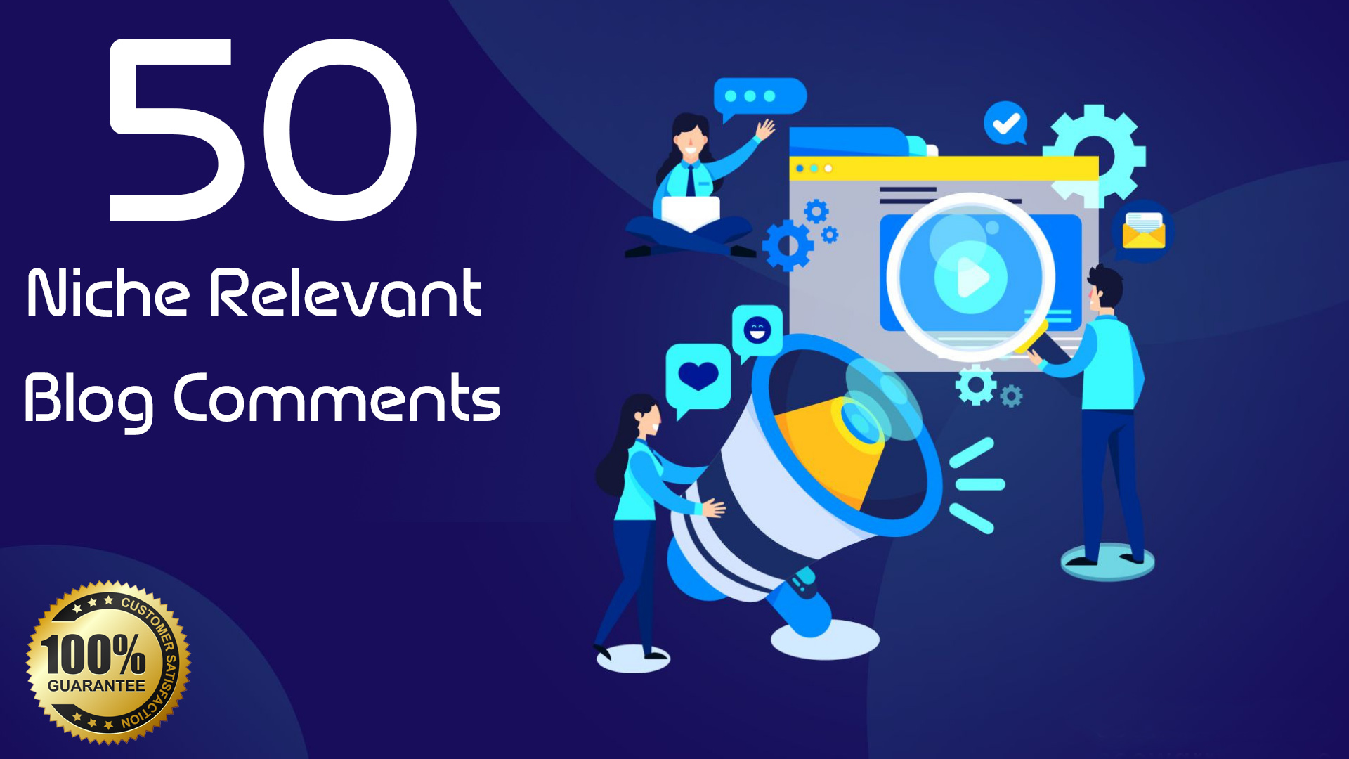 I will Publish 50 Niche Relevant Blog Comments Backlinks On High DA Qaulity links