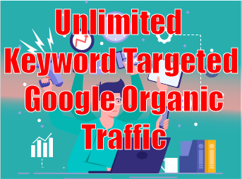Unlimited Keyword Targeted Google Organic Traffic to your site