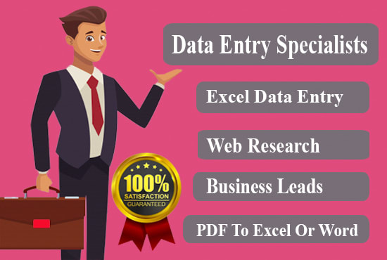 I will do excel data entry,  web scraping and internet research