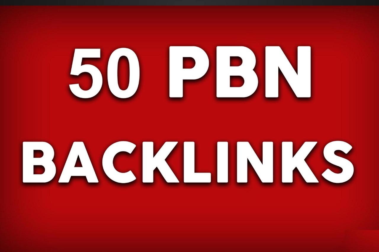Create 50 homepage PBN Backlinks DA 30 to 40 plus Manual work