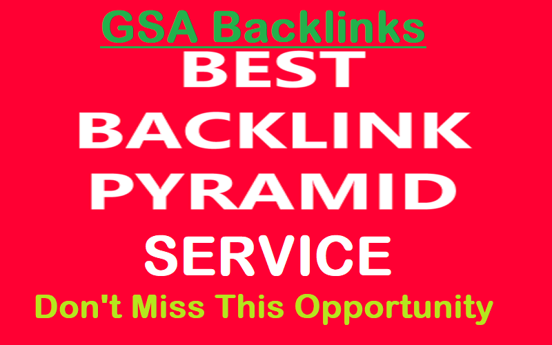 I will build backlinks pyramid using search engine ranker