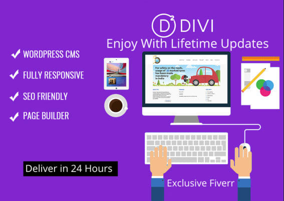 I will install divi theme or elegant theme with customization