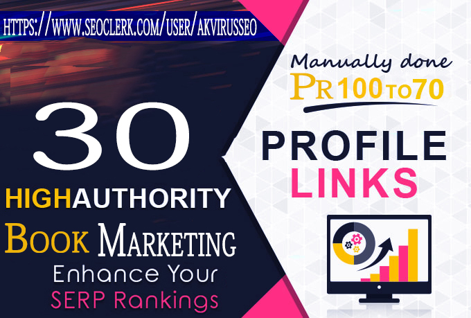 I Will Create 30 Social BookMarketing On High Da Sites All Links In Index