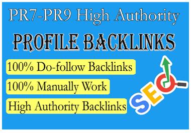 Get 10 Backlinks from PR5,  PR6,  PR7,  PR8 to PR9 for 5