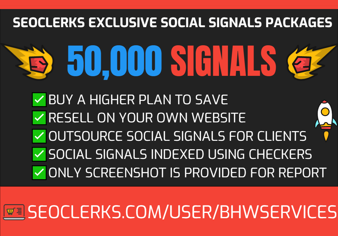 Get 50,000 Social Signals for SEO and Traffic Boost - High Authority Pages and Established Audience