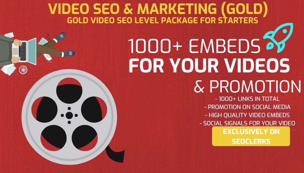 Get 1000+ Video Embeds and Social Signal Embed for SEO to your video