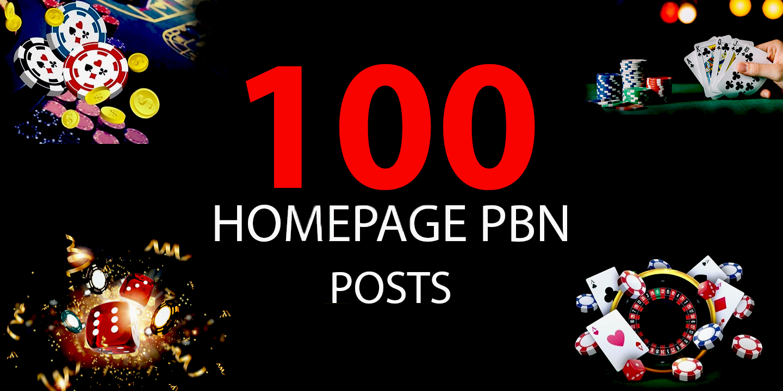 100 DA 30 to 40 Powerful Casino Poker Gambling Judi PBN Backlinks