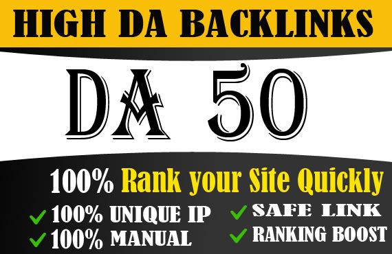 Grand Offer 100 Permanent Da 50+High Quality PBN Dofollow Backlink