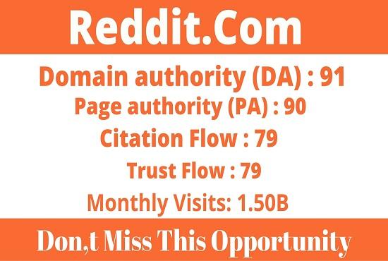 DA91+ Write and Publish Guest Post Reddit - Reddit. com